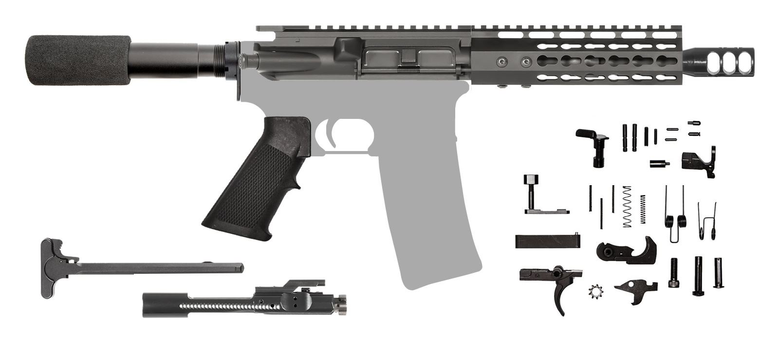 AR-15 AR Pistol Kit 300 AAC Blackout Keymod