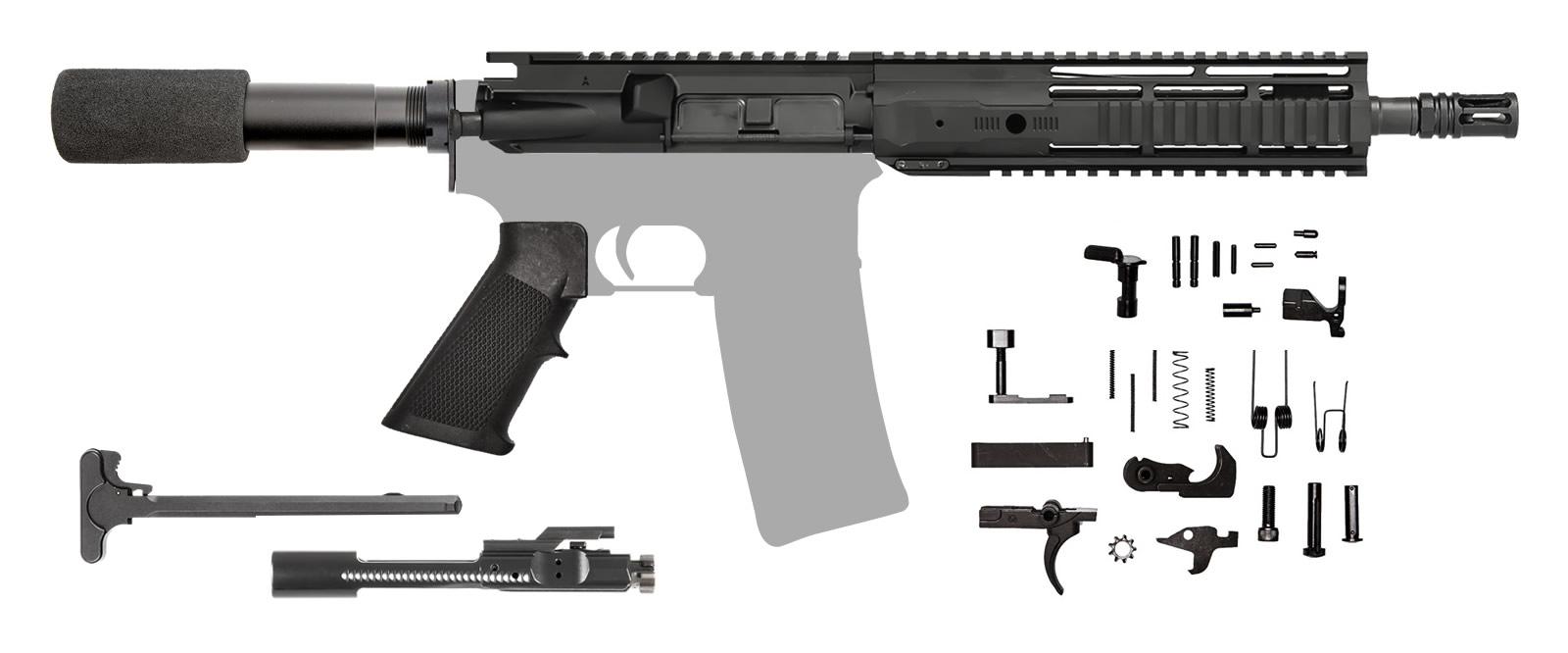 """AR-15 AR Pistol Kit 10.5"""" 300 AAC IRS Rail"""