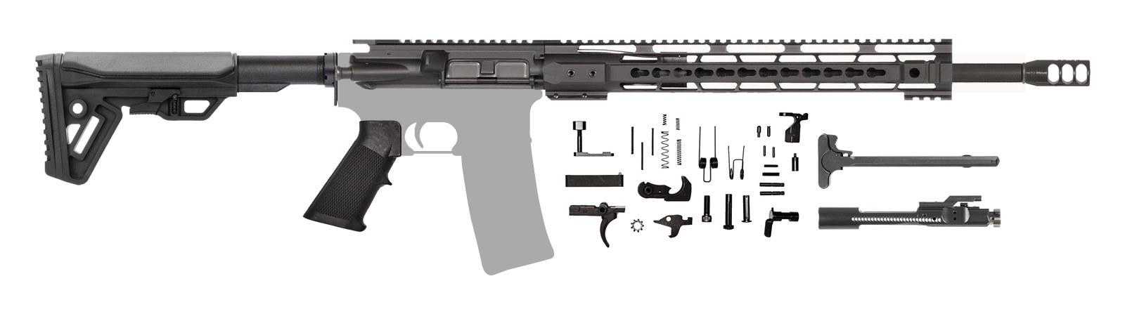 "Grendel AR-15 Rifle Kit 18"" 6.5 Grendel with 15"" CBC Keymod Rail"