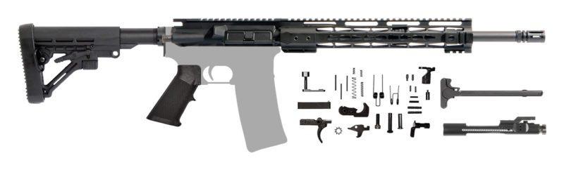 "AR-15 16"" AR Rifle Kit 7.62 with 12"" Keymod"