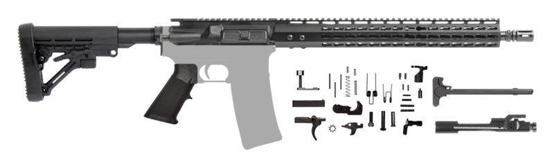 "AR-15 16"" AR Rifle Kit 7.62 with 15"" Keymod"