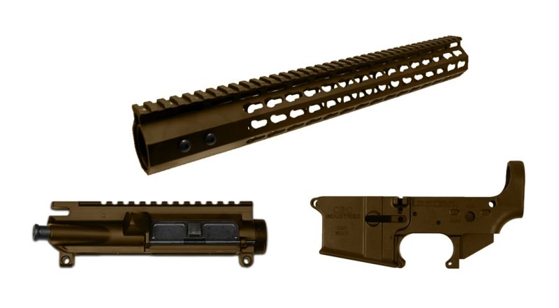 ar 15 cerakote 3 piece set burnt bronze lower receiver upper receiver handguard rail