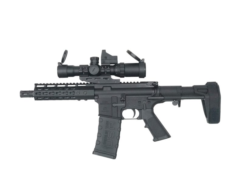 ar 15 complete pistol cbc industries pistol cbcp10 with scope and armbrace
