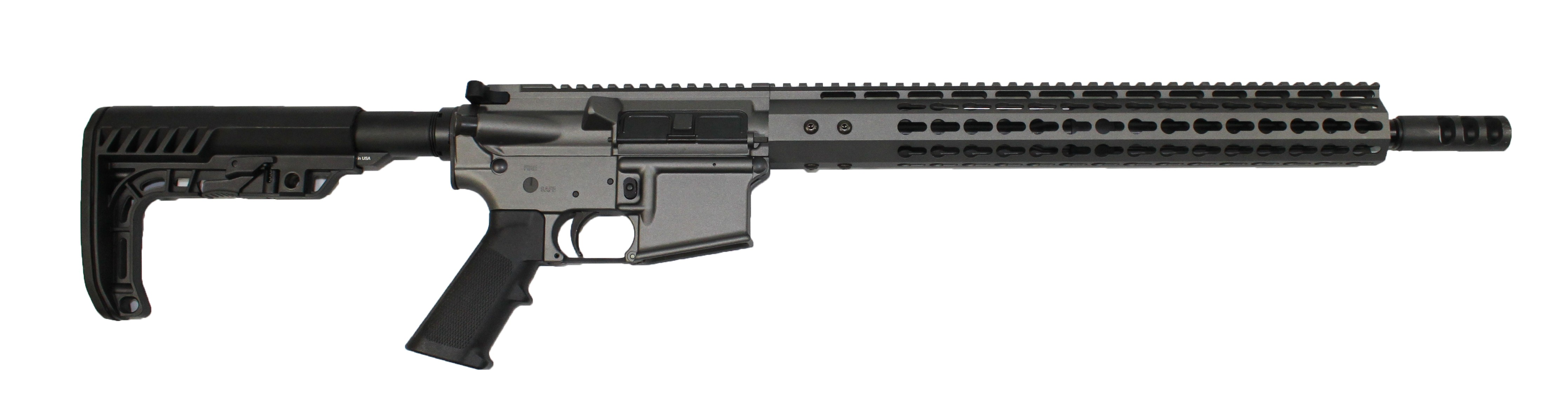 ar 15 complete rifle cbc industries limited edition tungsten rifle 223 5 56 mb05 2 flash hider minimalist buttstock