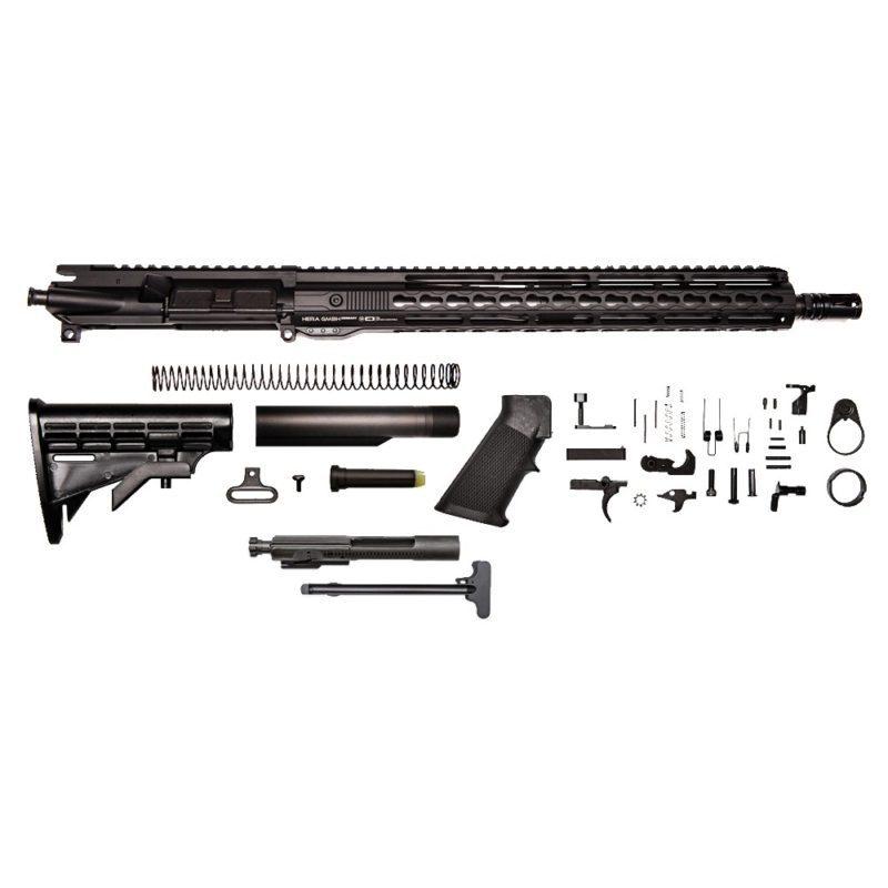 ar 15 rifle kit 16 5 56x45 upper assembly 1 7 15 hera keymod bolt carrier group charging handle ar 15 buttstock kit ar 15 lower parts kit hera rail section