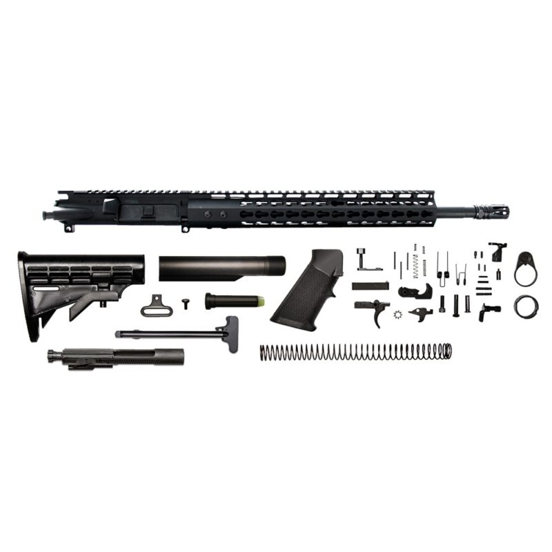ar 15 rifle kit 16 5 56x45 upper assembly 1 8 13 gen 2 bolt carrier group charging handle ar 15 buttstock kit ar 15 lower parts kit
