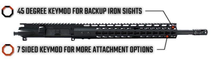ar 15 upper assembly 16 300 blackout 13 cbc arms keymod gen 2 ar 15 handguard rail 4