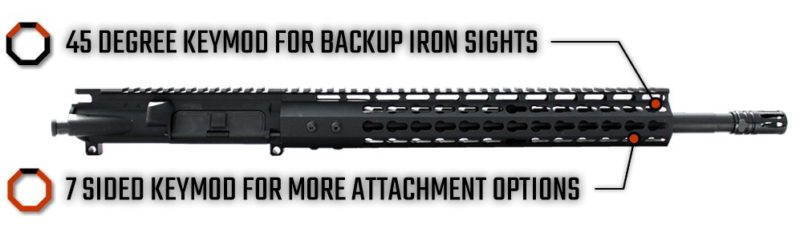 ar 15 upper assembly 16 5 56 x 45 1 9 13 cbc arms keymod gen 2 ar 15 handguard rail