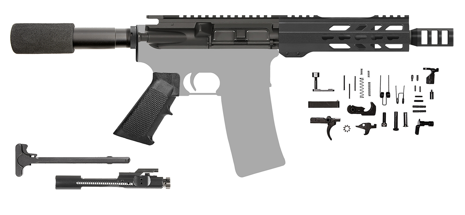 Ar 15 Pistol Kit 7 5 Ar 15 Barrel 300 Aac 7 Handguard Brake 205501 Cbc Precision Ar S