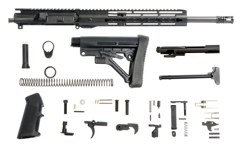 ar-15-rifle-kit-16-300aac-blackout-1-8-12-hera-arms-unmarked-keymod-ar-15-handguard-rail-bolt-carrier-group-charging-handle-ar-15-buttstock-kit-ar-15-lower-parts-kit
