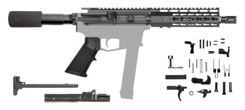 "AR-9 AR Pistol Kit 7.5"" 9MM Keymod"