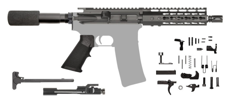 AR-15 AR Pistol Kit 300 AAC Blackout Keymod