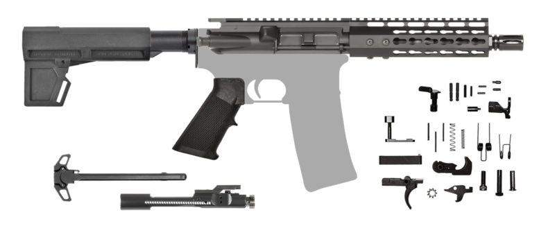 AR-15 Pistol Kit 300 AAC Blackout Keymod with Shockwave Blade