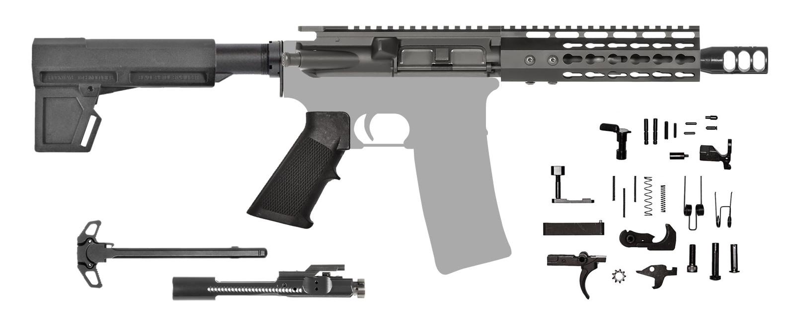 AR-15 Pistol Kit .223 NATO Keymod with Shockwave Blade