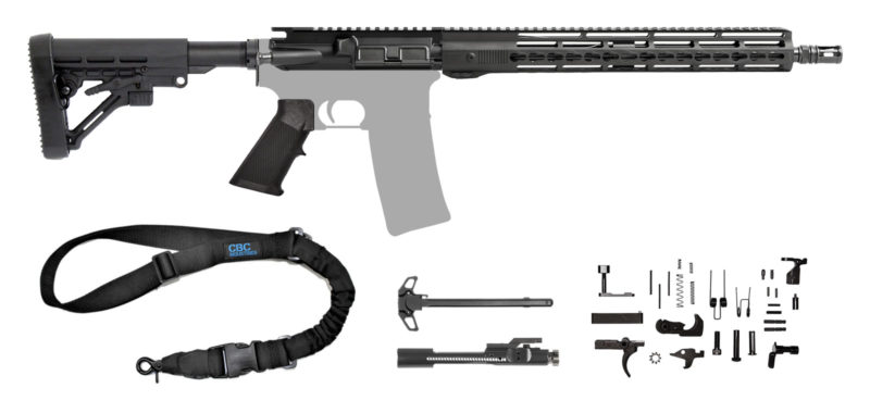 "AR-15 5.56 16"" AR Rifle Kit with 15"" Hera Unmarked Kemod Adjustable Buttstock & Sling"