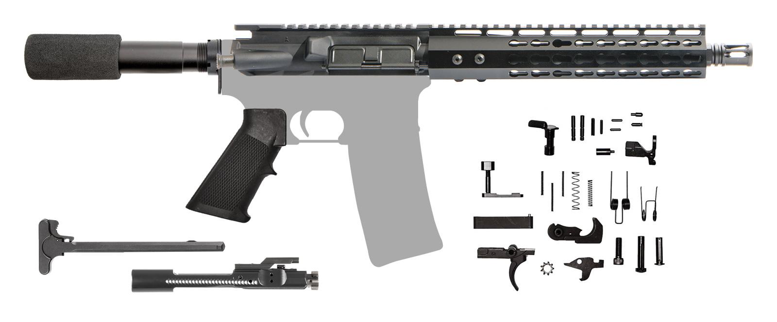 "AR-15 AR Pistol Kit 10.5"" .223 / 5.56 NATO Keymod Rail"