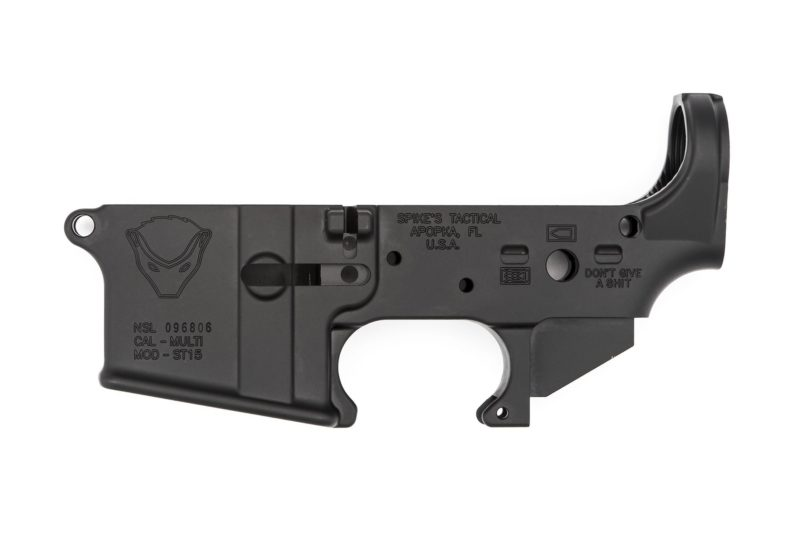 ar15-spikes-tactical-stripped-lower-receiver-honey-badger-logo-anodized-black-900221