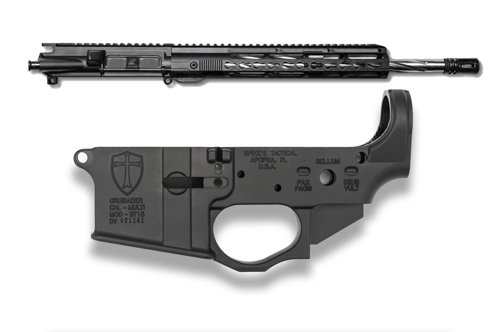 AR15 Upper Assembly with Spikes Tactical Lower - 16