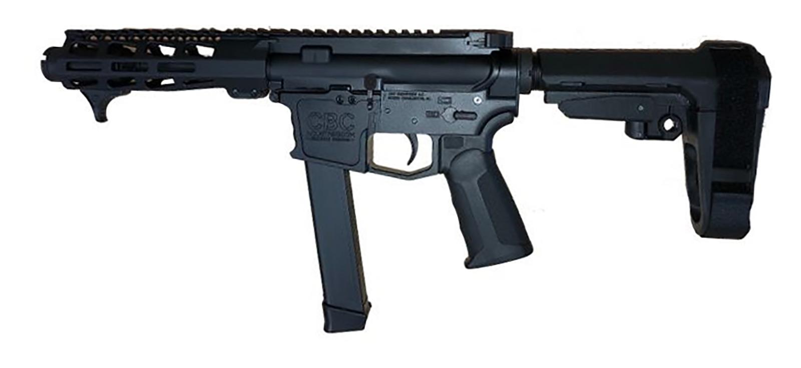 CBC PS2 Forged Aluminum AR Pistol - Black | 9mm | 4 5
