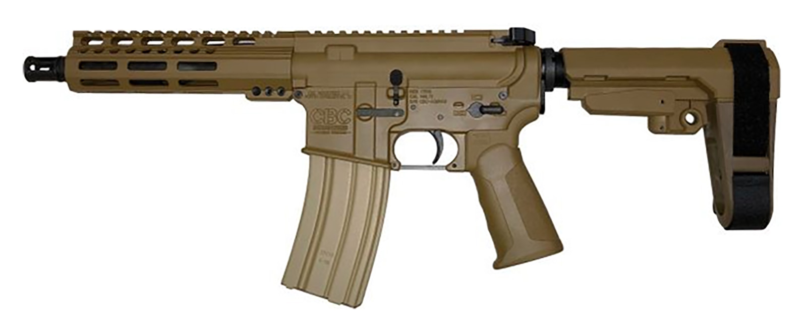 cbc-ps2-forged-aluminum-ar-pistol-coyote-brown-5-56-nato-7-5″-barrel-7″-m-lok-rail-sb3-brace
