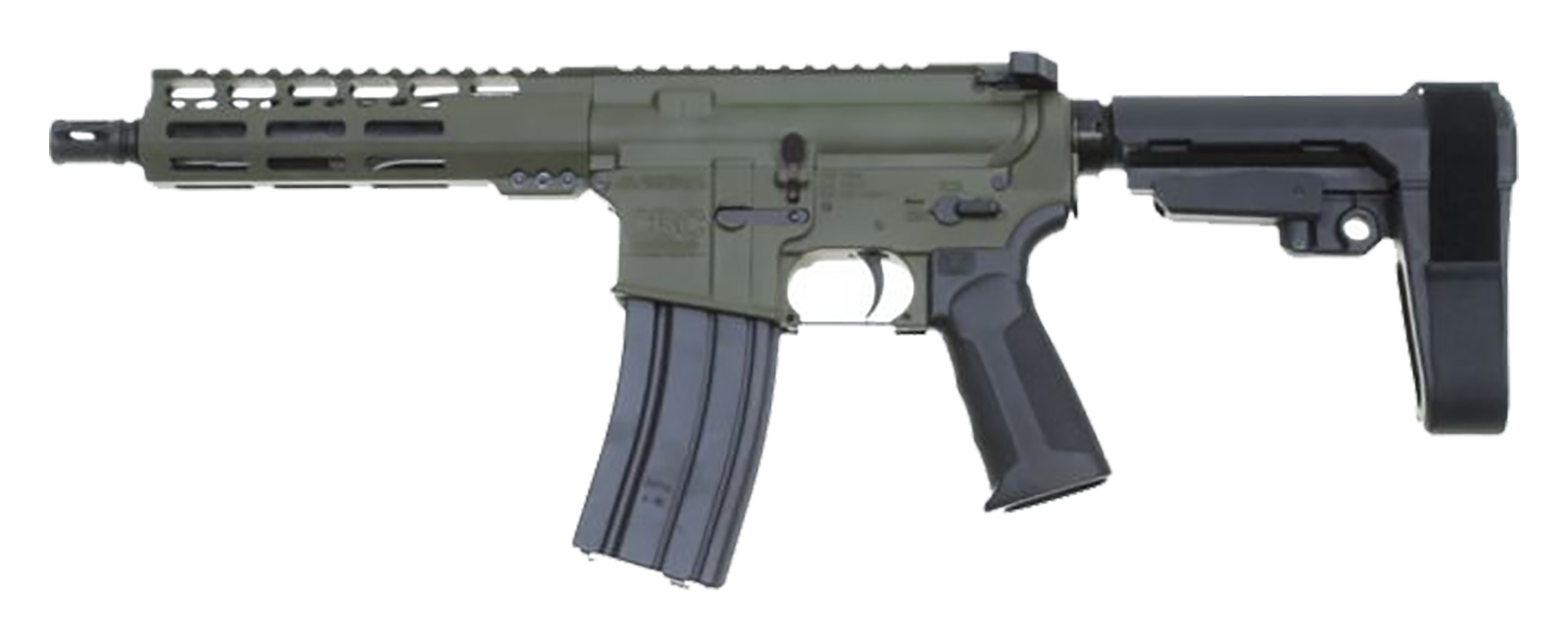 CBC PS2 Forged Aluminum AR Pistol - OD Green | 5 56 NATO | 7 5