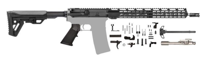 "AR-15 Rifle Kit 16"" Wylde Diamond Fluted Stainless Keymod"