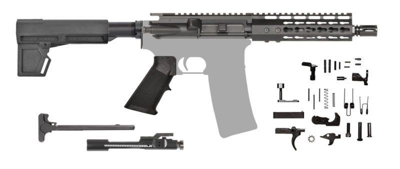 AR-15 Pistol Kit 7.62 Keymod with Shockwave Blade