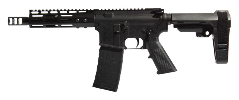 "AR-15 7.5"" Complete Pistol with Spikes Tactical Spider Lower & M-LOK Rail"