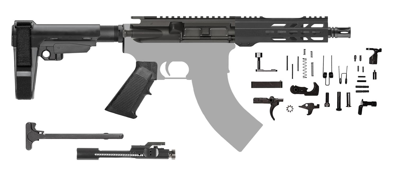 Ar15 Pistol Kit 7 5 Inch 7 62x39 Keymod Sba3 Shortie 205511 Cbc Precision Ar S