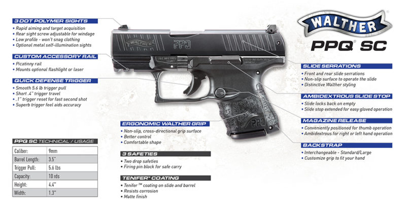 Walther PPQ M2 SC 9MM 3 5