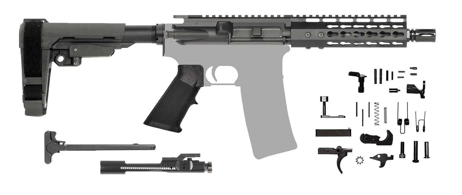 AR-15 AR Pistol Kit – 7.5 Inch / .223 NATO / Keymod / SBA3