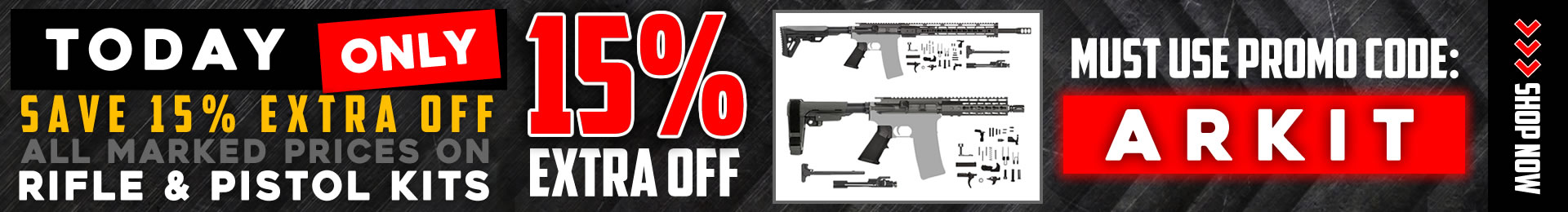AR-15 Deal Save on Pistol Kits, & AR Rifle Kits