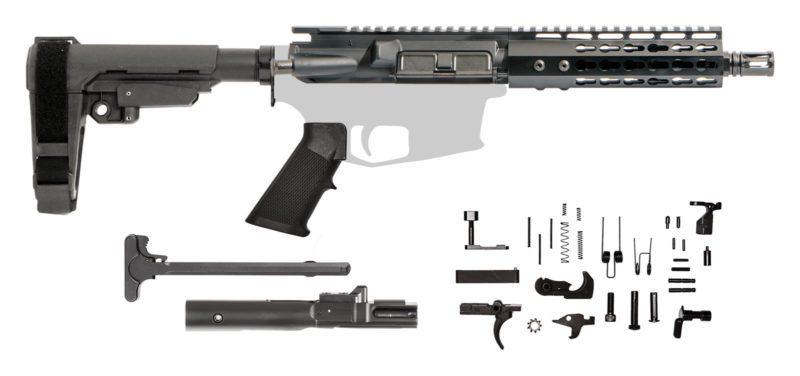 AR15 Pistol Kit – 7.5 Inch / 7.62×39 / Keymod / SBA3