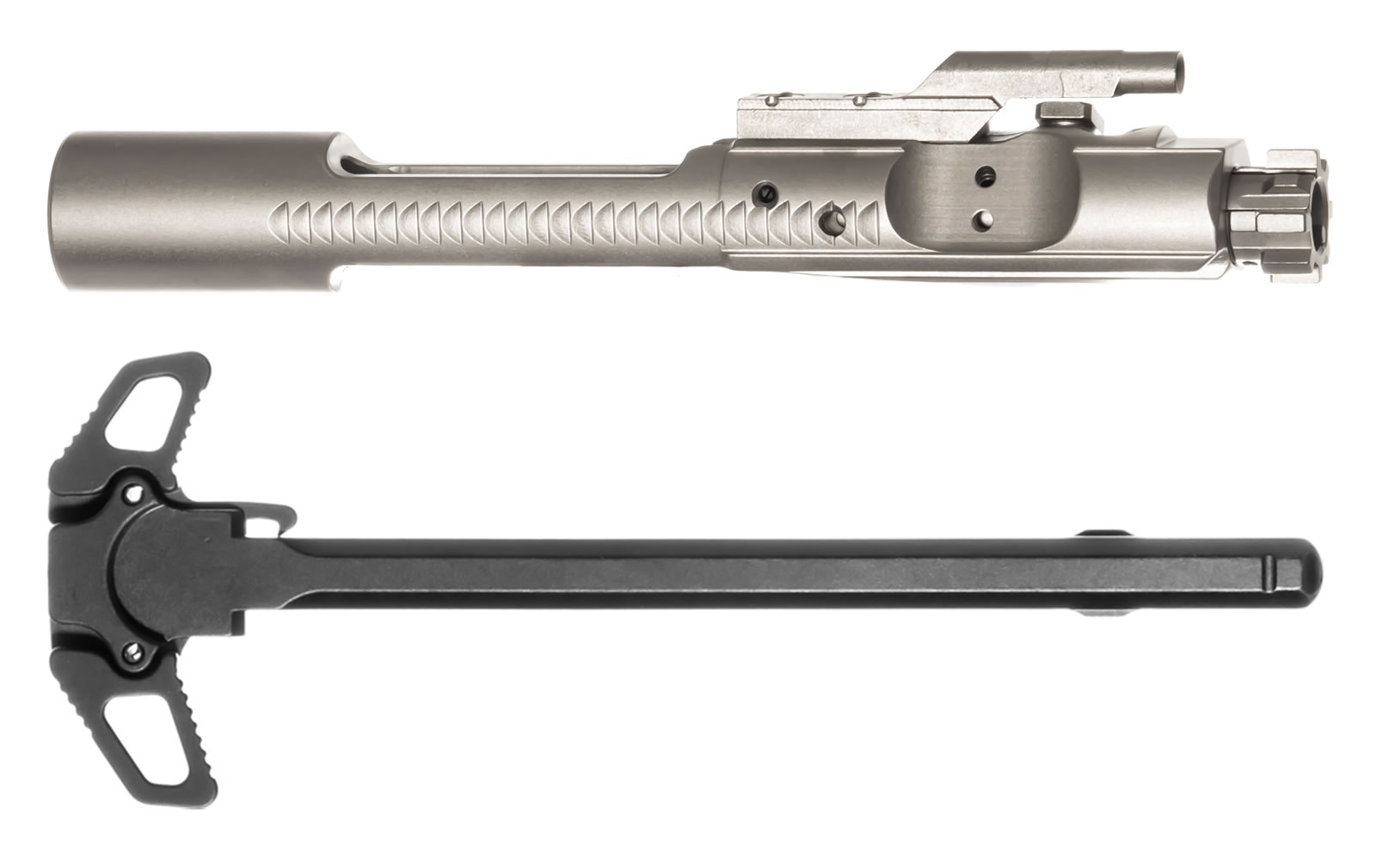 AR-15 Nickel Boron BCG Bolt Carrier Group 5.56/.223/300AAC & Ambidextrous Charging Handle Combo