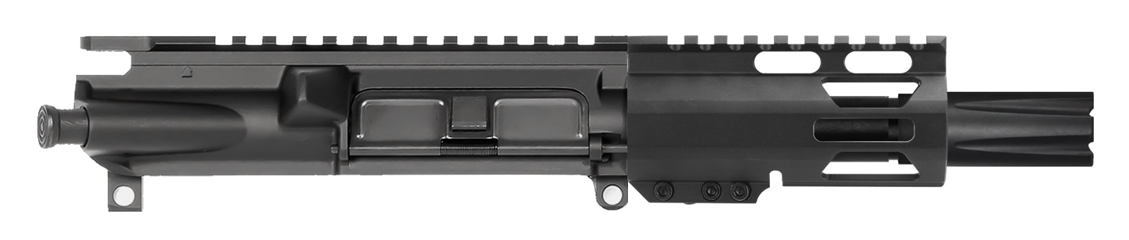 "AR-9 AR Pistol Upper Assembly 4"" with 4"" M-LOK After Burner Compensator"