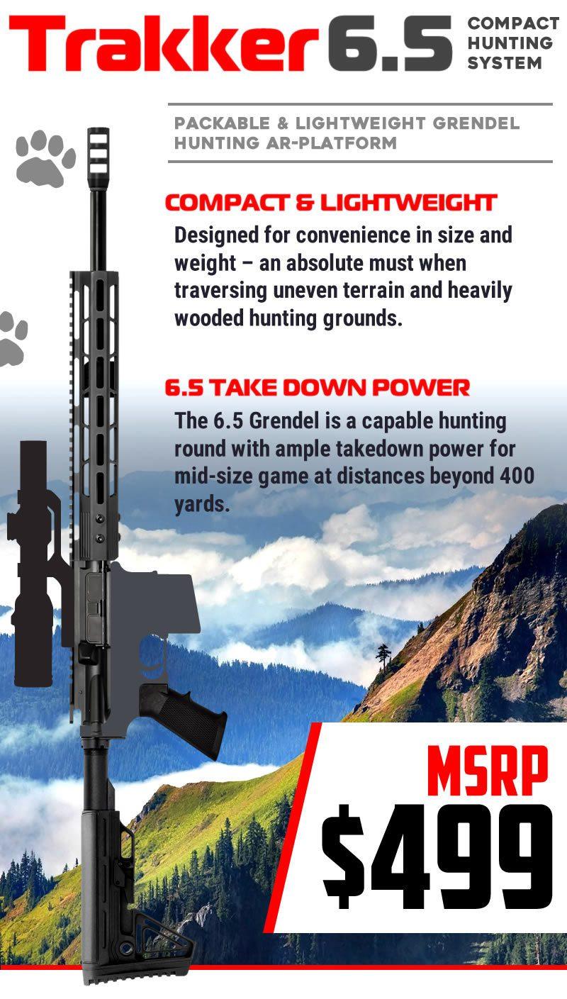 AR-15 Trakker 6.5 Grendel AR Rifle Kit Details