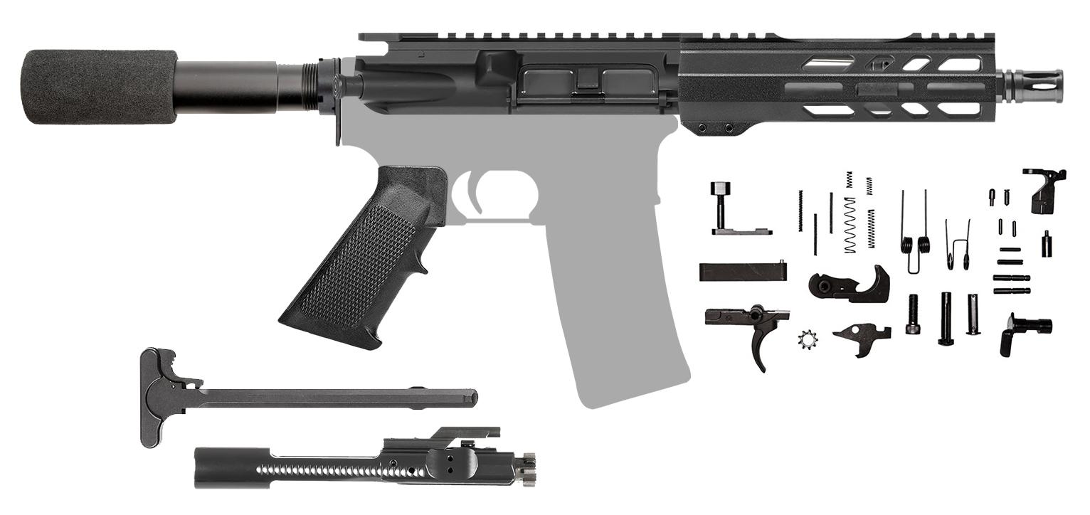 Ar15 Pistol Kit 7 5 Inch 5 56 M Lok Shortie 205451 Cbc Precision Ar S